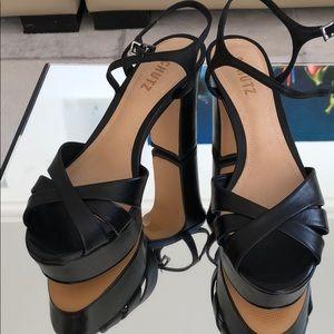 NWOT Schutz Black Platform Sandal